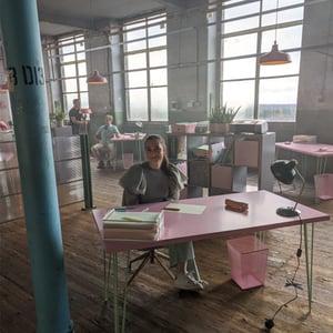 Anna in the office scene