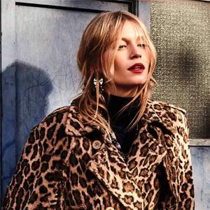 Girl in a leopard print coat