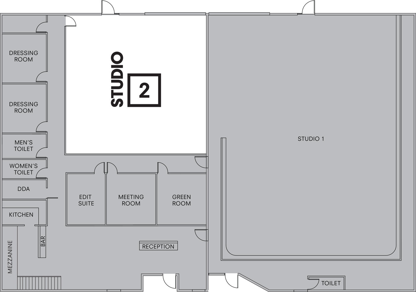 Studio 2 Floorplan